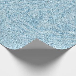 Hellblaue Denim-Beschaffenheit Geschenkpapier
