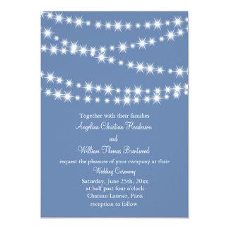 Hellblaue Funkeln beleuchten Hochzeits-Einladung 12,7 X 17,8 Cm Einladungskarte