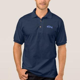 Hellblaue JESUS-Fisch-Ikonen-christliches Shirt