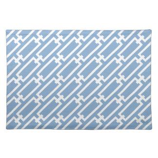 Hellblaue Kettenglied-geometrisches Muster Tisch Set