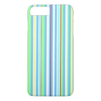 Hellblaue kombinierte Streifen iPhone 8 Plus/7 Plus Hülle