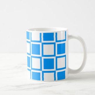 Hellblaue mutige Mod-Quadrate Kaffeetasse