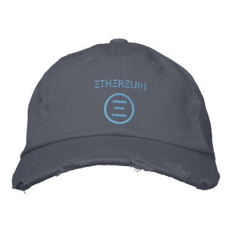 Hellblaue (Stich 3x) Baseballmütze Ethereum Bestickte Kappe