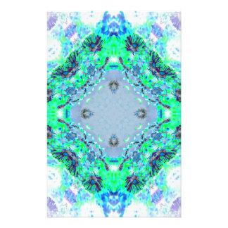 Hellblaue u. grüne Wildblumen-Entwurfs-Geschenke Briefpapier