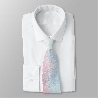Hellblaue u. rote Aquarell-Hochzeit Krawatte