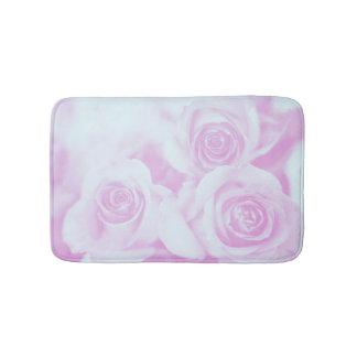 Hellblaue und Pinkish lila Rosen Badematte