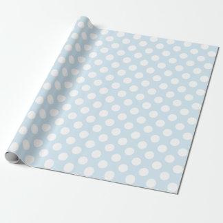 Hellblaue und weiße Tupfen Geschenkpapier