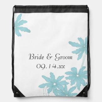 Hellblaue Wedding Gänseblümchen Turnbeutel