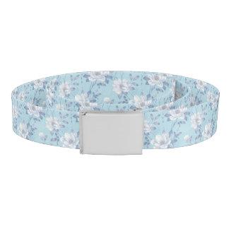Hellblauer Blumen-Muster-Gurt Gürtel