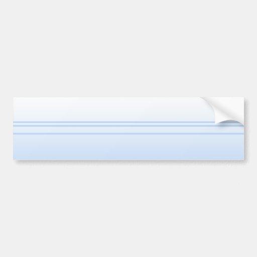 Hellblauer einfacher eleganter Entwurf Auto Aufkleber