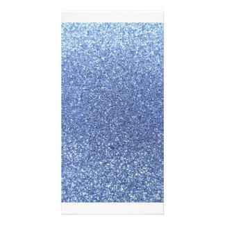 Hellblauer Glitter Photokarten