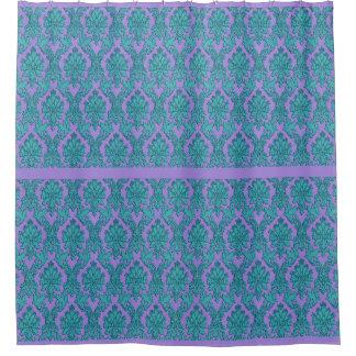 Hellblauer Lavendel-Spitze-Druck-Duschvorhang Duschvorhang