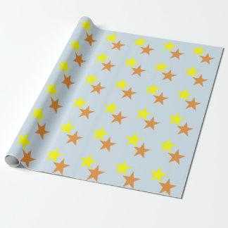 Hellblauer Lech zwei Sterne Geschenkpapier