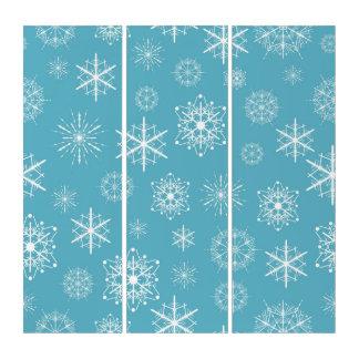 Hellblauer Schneeflocke-Weihnachtsentwurf Triptychon