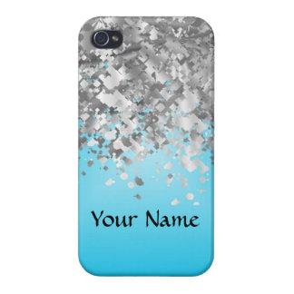 Hellblauer und Imitat-Glitter Etui Fürs iPhone 4