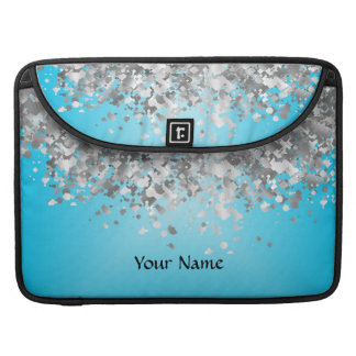 Hellblauer und Imitat-Glitter MacBook Pro Sleeves