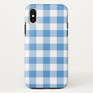 Hellblauer und weißer Büffel karierter iPhone X iPhone X Hülle