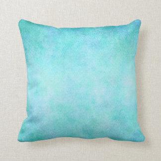 Hellblaues aquamarines Aquawatercolor-Papier bunt Kissen
