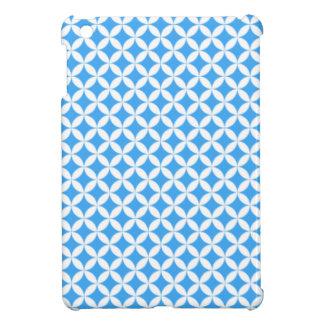 Hellblaues Kreis-Muster iPad Mini Hülle