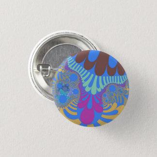 Hellblaues Regenbogen-Mod-kleiner Knopf Runder Button 2,5 Cm