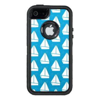 Hellblaues Segelboot-Muster OtterBox iPhone 5/5s/SE Hülle