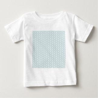 hellblaues Streifenmuster Baby T-shirt