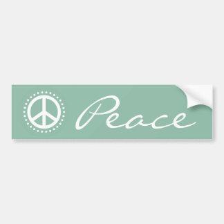 Hellblaues Tupfen-Friedenszeichen Autoaufkleber