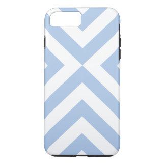Hellblaues und weißes Sparren iPhone 8/7 Plusfall iPhone 8 Plus/7 Plus Hülle
