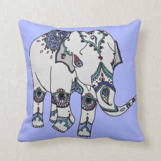 Hellblaues verschönertes Elefant-Kissen Kissen