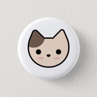 Hellbrauner Kätzchen-Knopf Runder Button 3,2 Cm