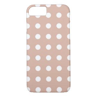 Hellbrauner weißer schicker Tupfen iPhone 7 Kasten iPhone 7 Hülle