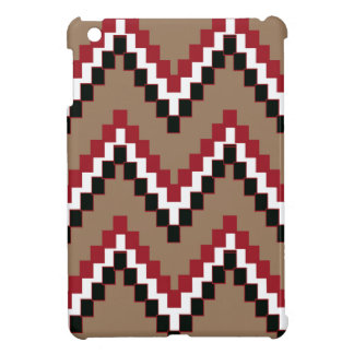 Hellbrauner Western-Block Zickzack iPad Mini Hülle
