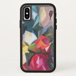 Helle abstrakte Telefon-mit Blumenrechtssache 2 iPhone X Hülle