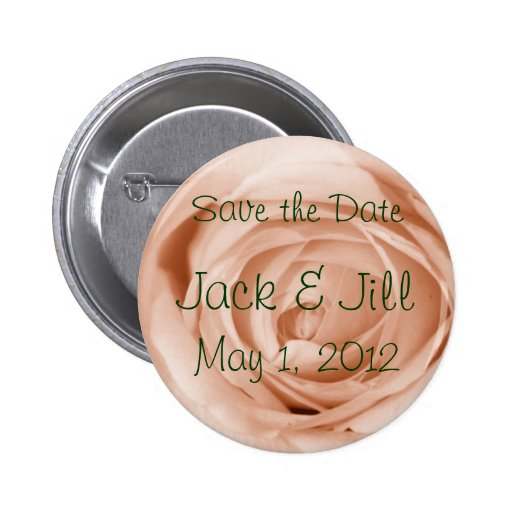 Helle Aprikose Save the Date Anstecknadelbutton