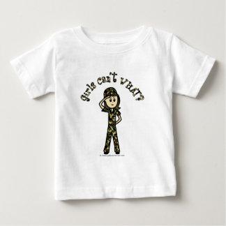 Helle Armee-Frau Baby T-shirt