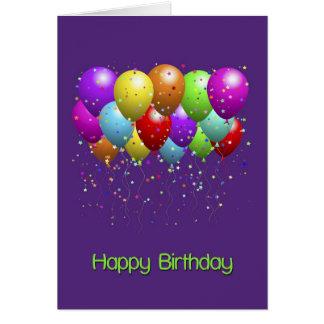 Helle Ballon-alles Gute zum Geburtstag Karte