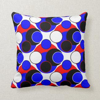 Helle Blasen, rotes weißes blaues Schwarzes auf Kissen