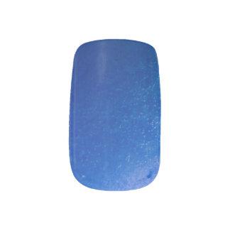 Helle blaue Blasen Minx Nagelkunst