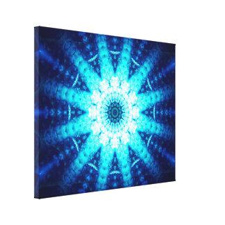 Helle blaue Energie Leinwanddruck