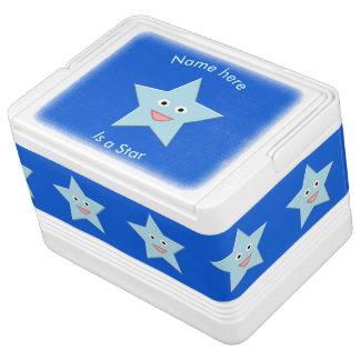 Helle blaue Feier-Stern-Gewohnheit kann cooler Kühlbox