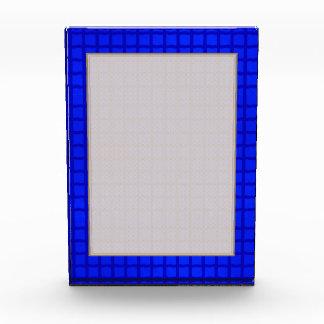 Helle blaue Fliesen Acryl Auszeichnung