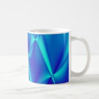 Helle blaue Fraktal-Kaffee-Tasse Kaffeetasse