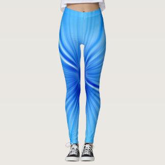 Helle blaue stripy Gamaschen Leggings