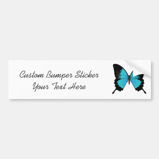 Helle blaue u. schwarze Schmetterlings-Vorlagen-Fa