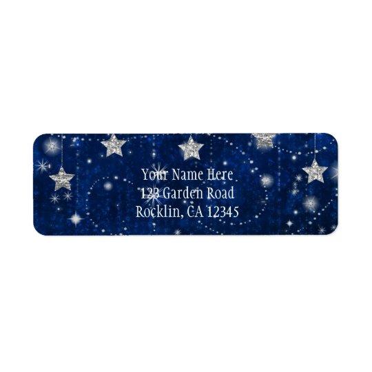 Helle blaue u. silberne sternenklare himmlische