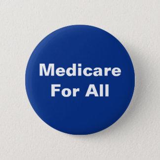 Helle blaue weiße Medicare für allen Knopf Runder Button 5,7 Cm