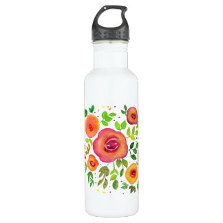 Helle Blumen-Blumenblumenstrauß, Trinkflasche