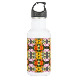 Helle Blumen-Wasser-Flasche Trinkflasche