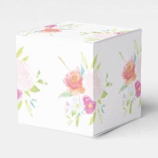 Helle Blumenwatercolor-PastellGeschenkboxen Geschenkschachtel