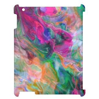 Helle flüssige Farbpsychedelischer flippiger Fall iPad Hülle